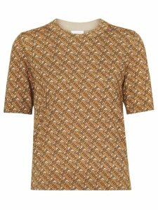 Burberry Monogram Print Merino Wool Top - Brown