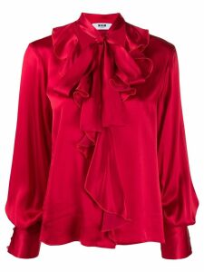 MSGM ruffle blouse - Red