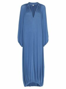 Toteme Paliano v-neck gathered dress - Blue