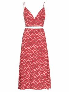 Reformation Catania two-piece floral top and skirt - Red