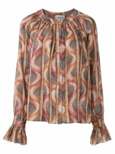 Olympiah ruched stone pattern blouse - Multicolour