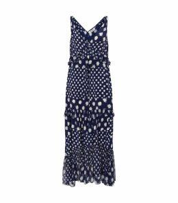 Misha Polka Dot Ruffled Maxi Dress