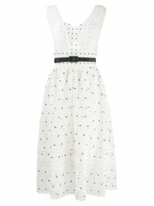 Self-Portrait Hibiscus Floral Guipure midi dress - White