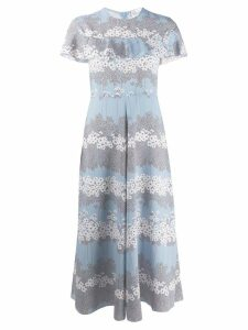 Red Valentino Peony print dress - Blue