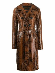 Dsquared2 snakeskin effect coat - Brown