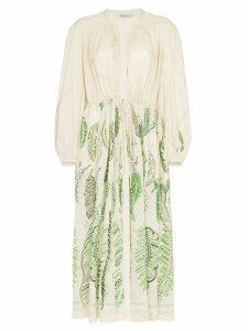 Three Graces x Zandra Rhodes Julienne embroidered dress - Green