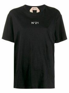 Nº21 logo print crew neck T-shirt - Black