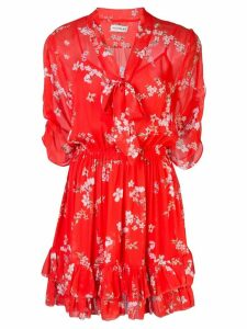Nicholas floral print mini dress - Red