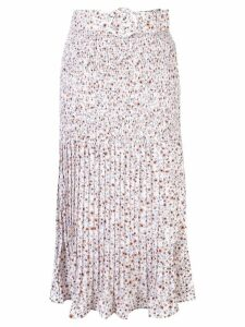 Nicholas poppy-print skirt - White