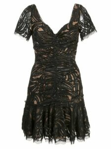 Jonathan Simkhai gathered lace mini dress - Black