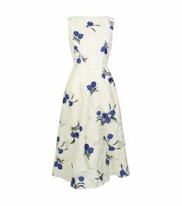 Boat-Neck Floral Print Dress