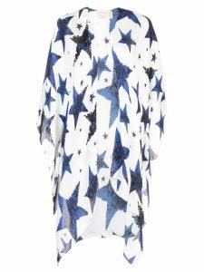 Nicole Miller star print kimono - White