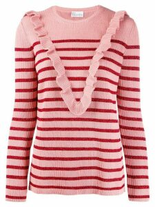 Red Valentino glitter stripe jumper - Pink