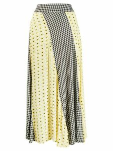 Ganni paneled skirt - Yellow