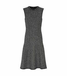 Metallic Tweed Flared Dress