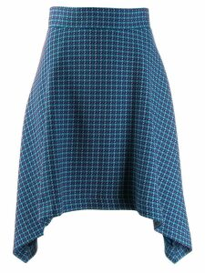 See By Chloé patterned curved skirt - Blue