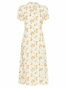 Reformation Sheila floral print midi dress - White
