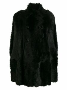 Red Valentino single-breasted coat - Black