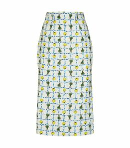 Cabana Crudite Linen Pencil Skirt