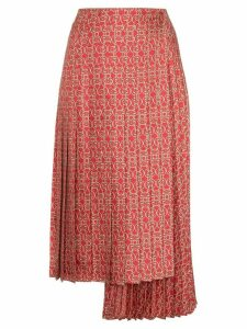 Fendi Gate printed midi skirt - Red