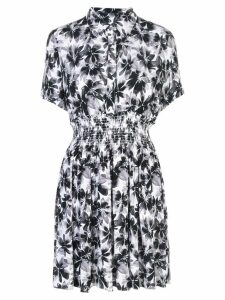 Nicole Miller floral print shirt dress - Black