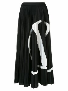 Valentino VLOGO pleated skirt - Black