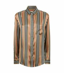 Icon Stripe Silk Shirt