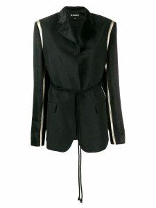 Ann Demeulemeester contrast sleeve blazer - Black