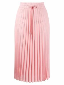 Red Valentino drawstring waist pleated skirt - Pink
