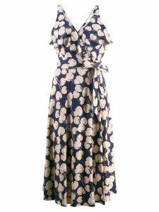 Diane von Furstenberg Kimono leaf dress - Blue