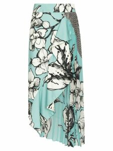 Silvia Tcherassi Aretha mixed print asymmetric skirt - Multicolour