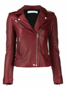 Iro slim-fit biker jacket - Red