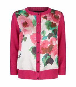 Blossom Wool-Silk Floral Cardigan