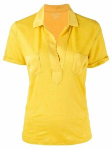 Majestic Filatures relaxed polo top - Yellow