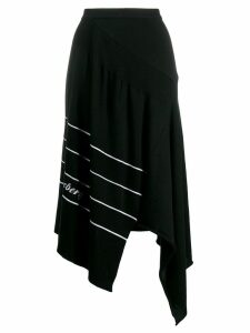 Iceberg asymmetric midi skirt - Black