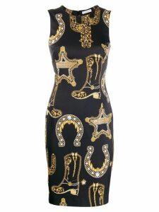 Versace Collection all-over print dress - Black