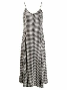 Ganni check dress - Black