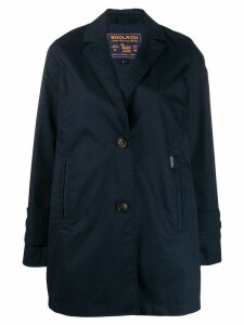 Woolrich single-breasted trench coat - Blue