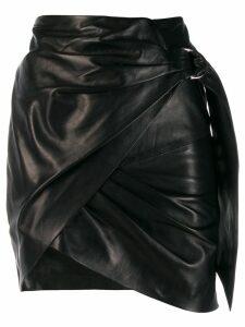 Iro asymmetric mini skirt - Black