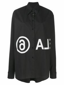 Mm6 Maison Margiela logo printed shirt - Black