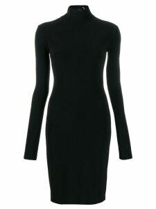 Norma Kamali long-sleeve fitted dress - Black