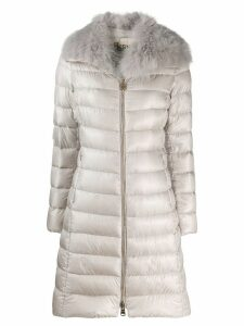 Herno fur collar padded coat - Neutrals