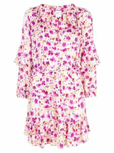 Misa Los Angeles floral ruffle dress - White