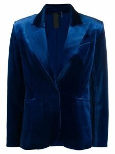 Norma Kamali classic fitted blazer - Blue