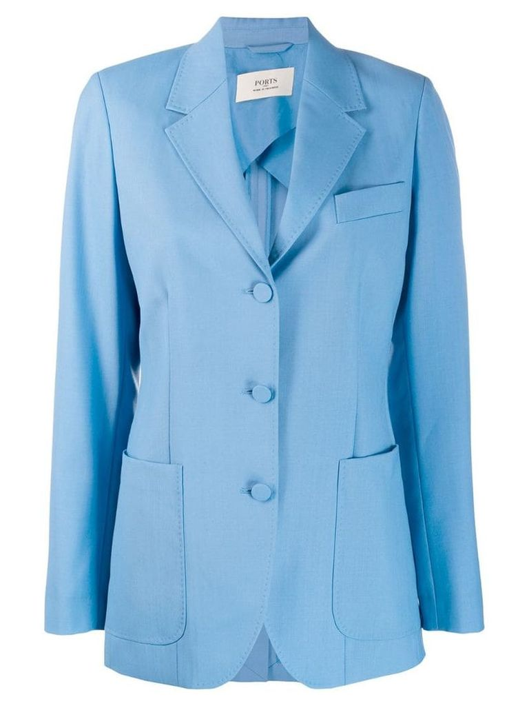 Ports 1961 single breasted blazer - Blue
