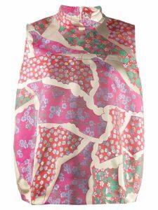 Marni brocade high neck top - Pink