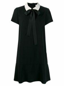 Red Valentino collared T-shirt dress - Black