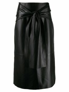 Joseph midi skirt with knot detail - Black