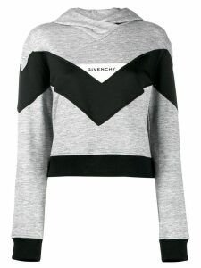 Givenchy colour block hoodie - Grey