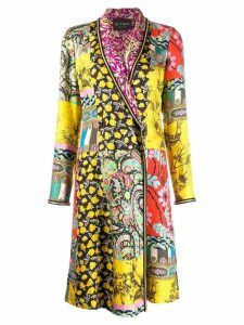 Etro patchwork coat - Yellow